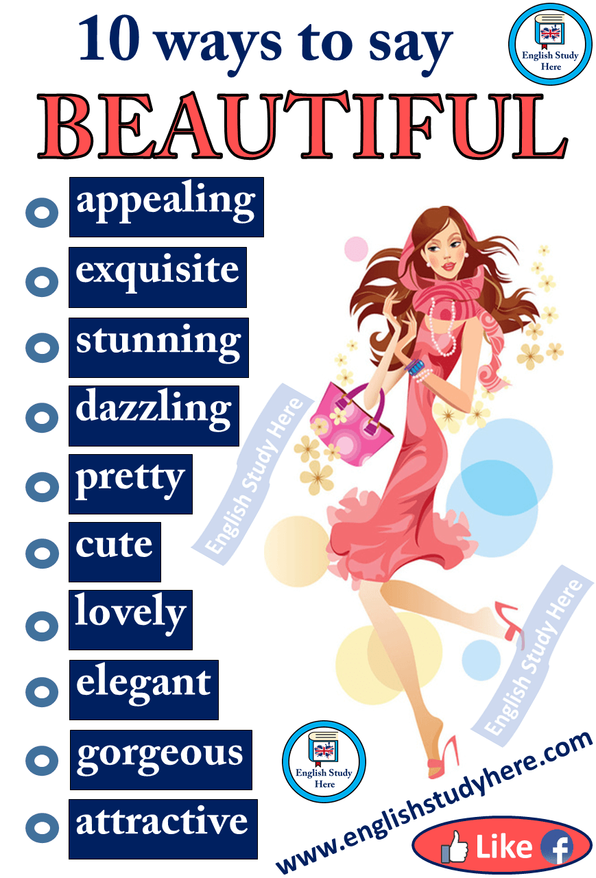 """Different Ways to Say """"BEAUTIFUL"""" in English – English Study Here"""