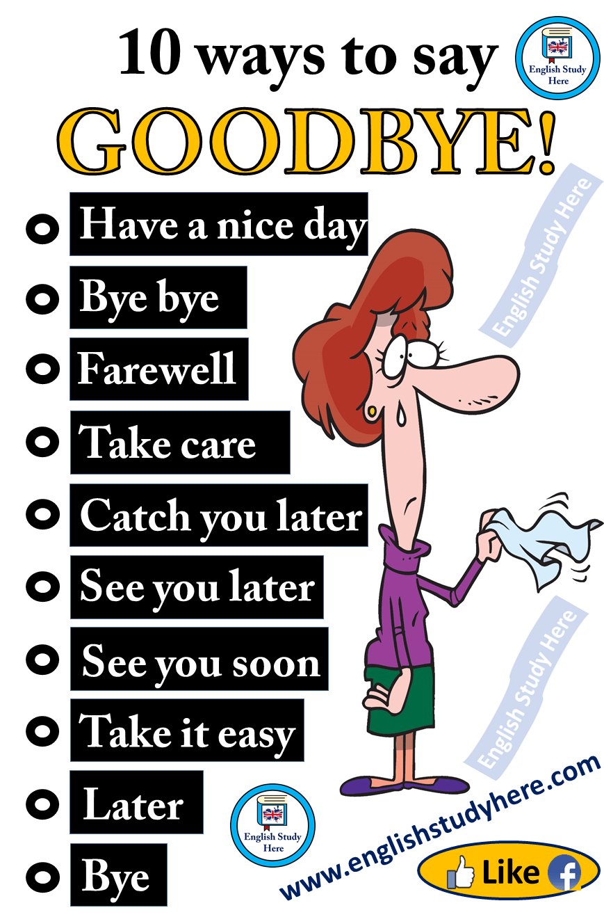 Different Ways to Say GOODBYE in English - English Study
