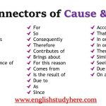 Connectors of Cause and Effect