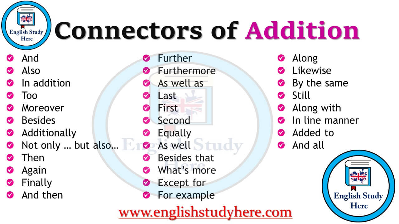 Connectors of Addition in English