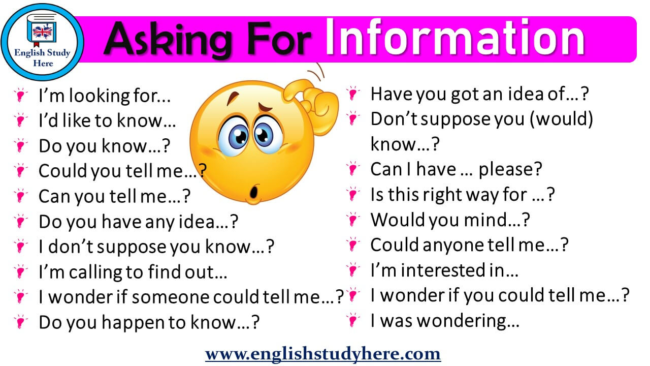 Asking for Information in English