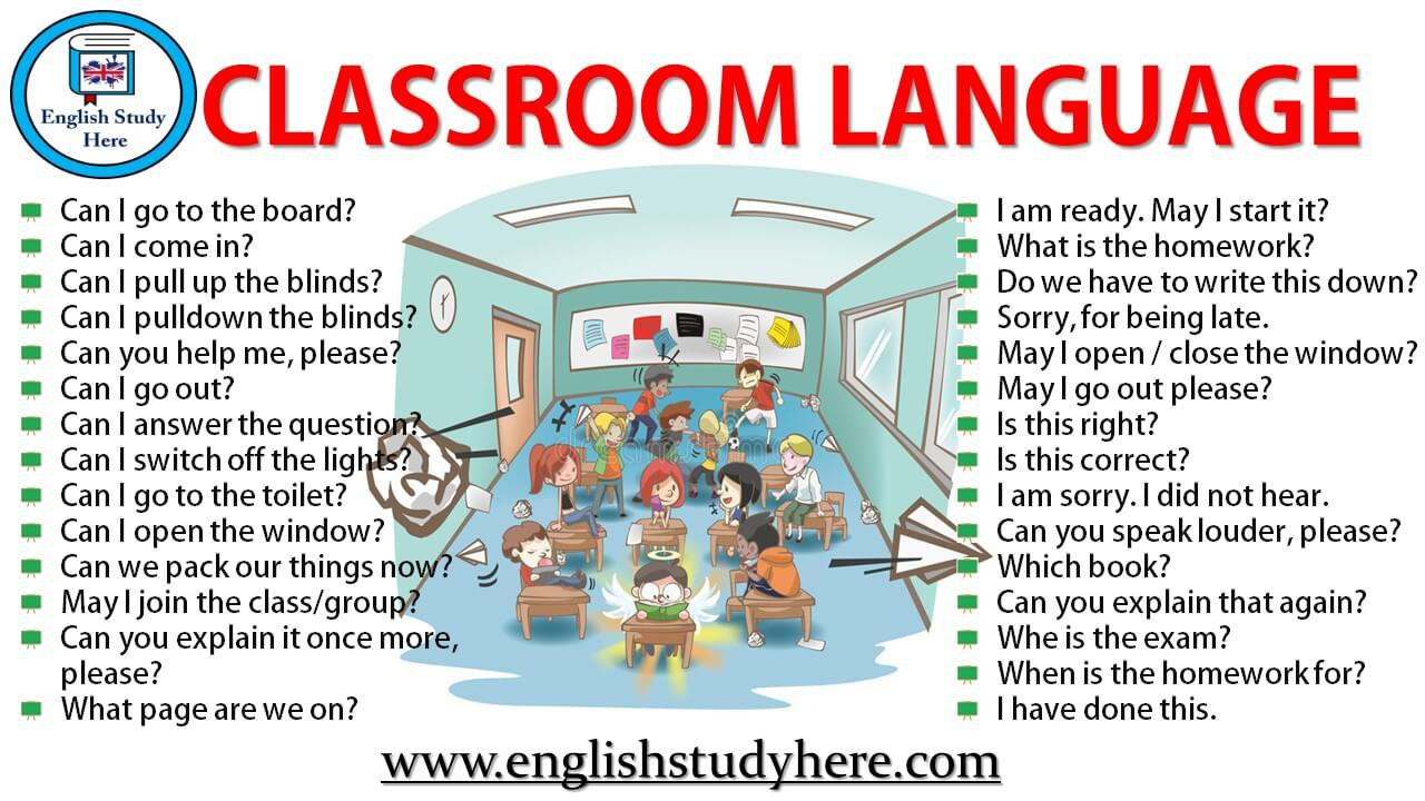Classroom Language in English