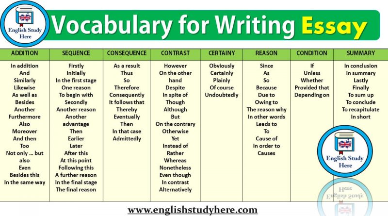 Vocabulary for Writing Essay