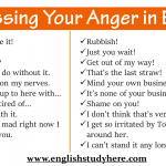 Expressing anger in English, Expressing your anger in English, How to Express Yourself in English when you are angry, English for Angry Situations
