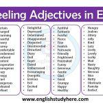 Feeling Adjectives in English