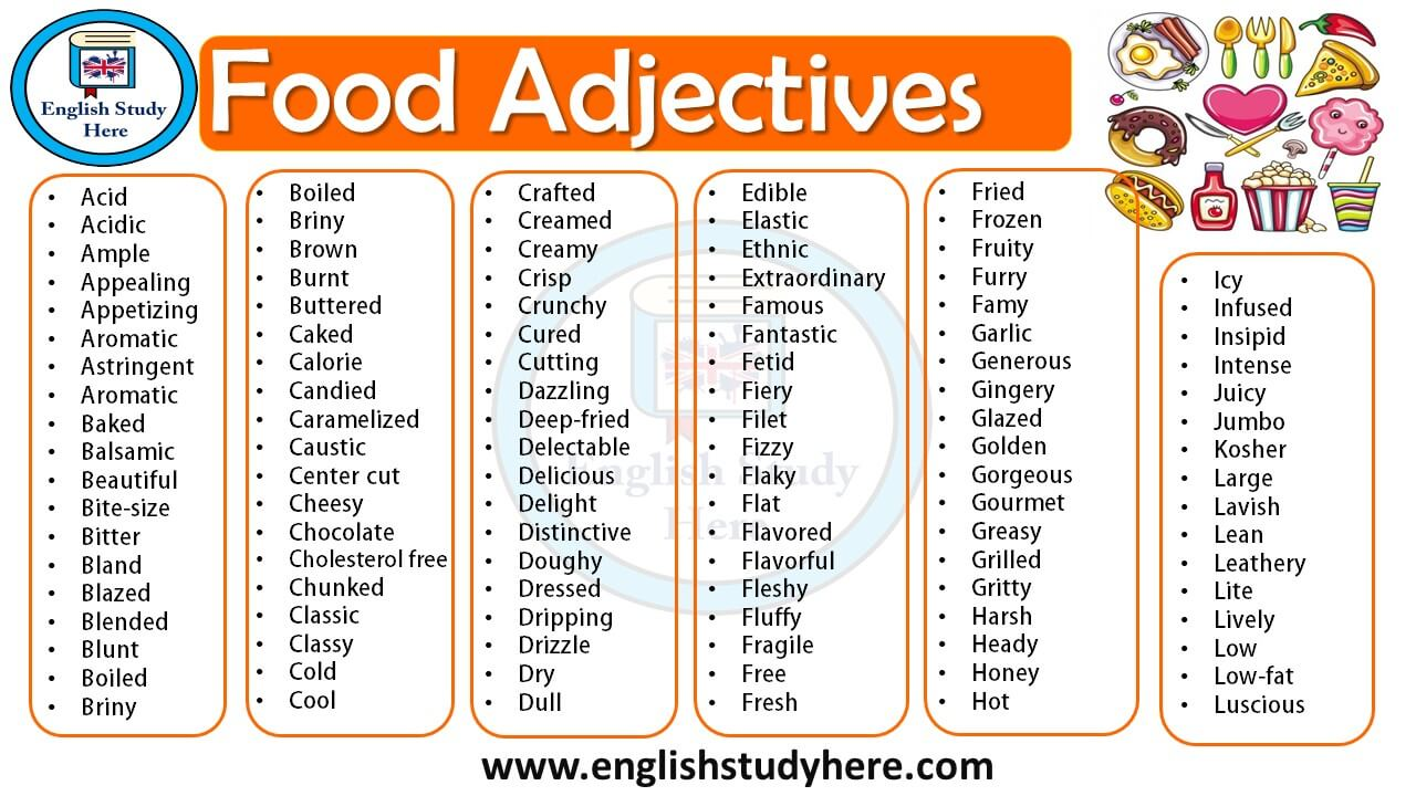 list of adjectives with pictures pdf
