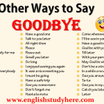 Other Ways to Say GOODBYE in English