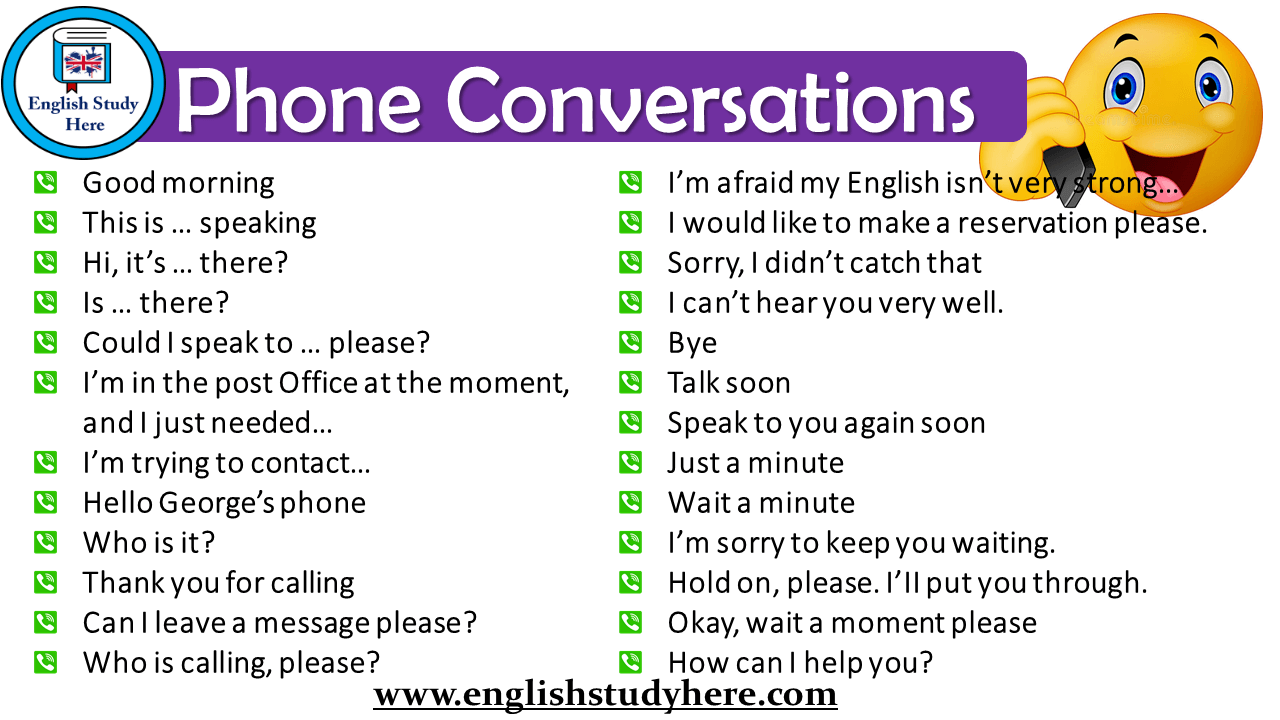 Talking on the Phone in English - Telephone Vocabulary and Phrases - Phone Calls in English