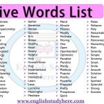 Positive Words List in English