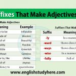 Suffixes That Make Adjectives, Adverbs