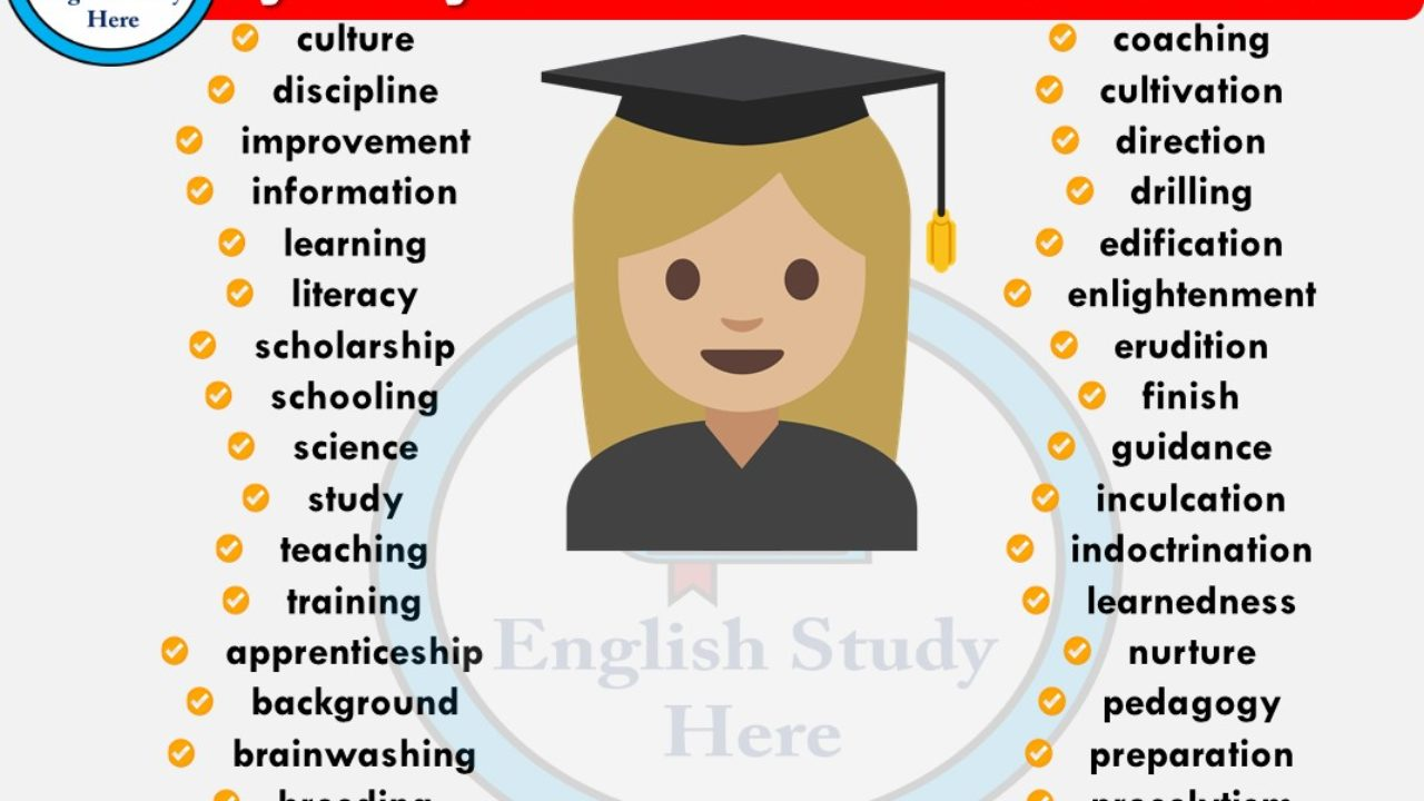 Education Synonyms Words   English Study Here