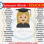 Synonym Words Related to EDUCATION