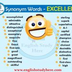 Synonym Words - EXCELLENT