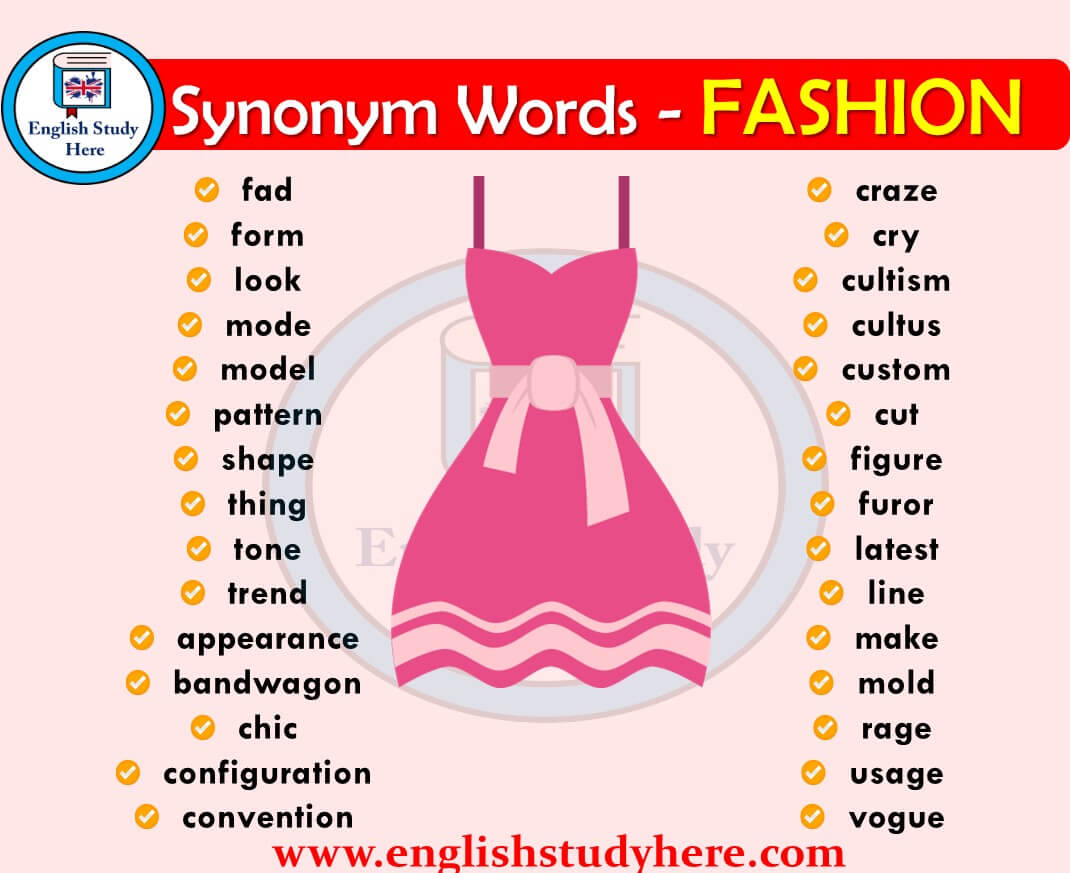 Synonym Words Related to FASHION