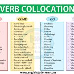 Verb Collocations Get, Come, Go, Take