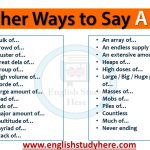 Other Ways to Say A LOT in English