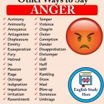 Other Ways to Say ANGER in English