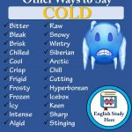 Other Ways to Say Cold in English