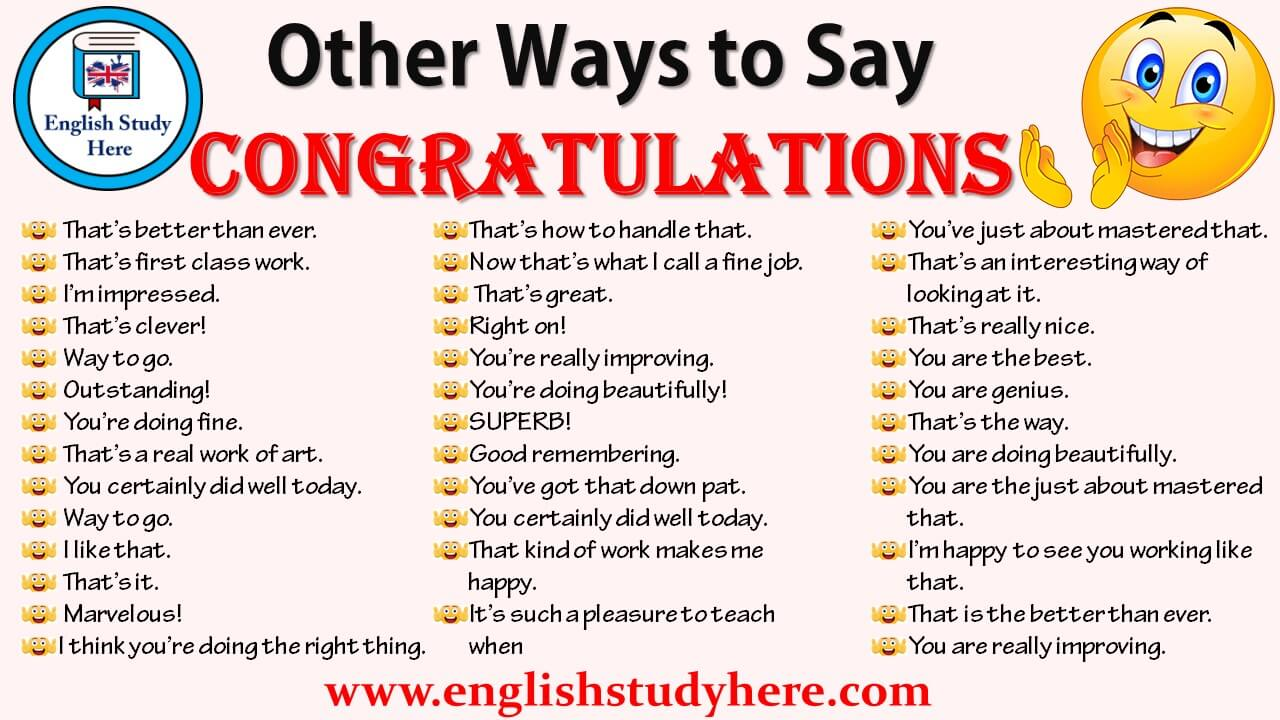 other ways to say congratulations