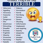Other Ways to Say TERRIBLE in English