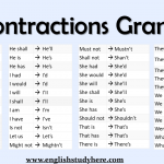 Contractions Grammar
