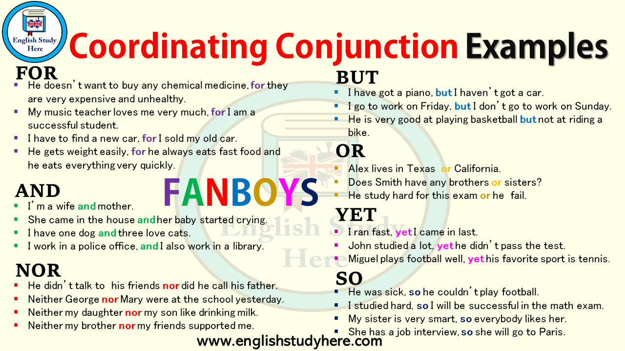 Coordinating Conjunction Examples