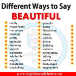 Different Ways to Say BEAUTIFUL
