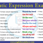Idiomatic Expression Examples