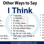 Other Ways to Say I Think