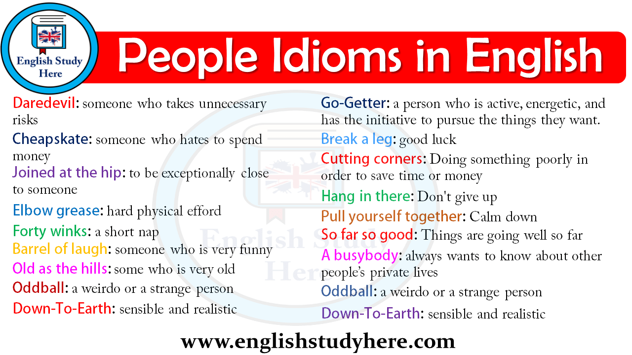 People Idioms in English
