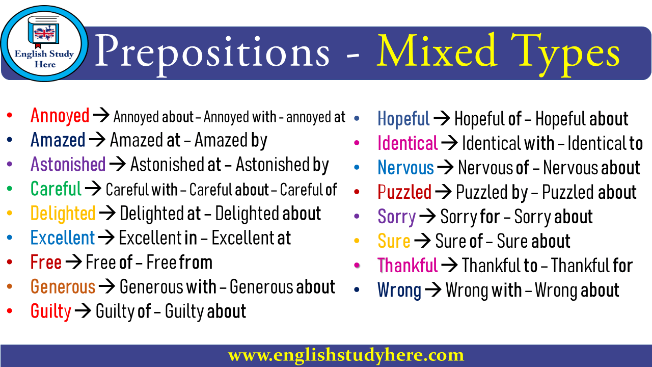 Prepositions - Mixed Types