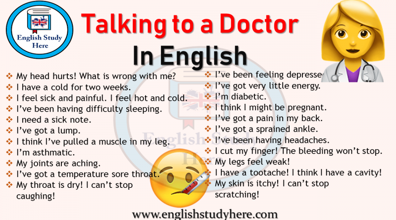about doctor in english