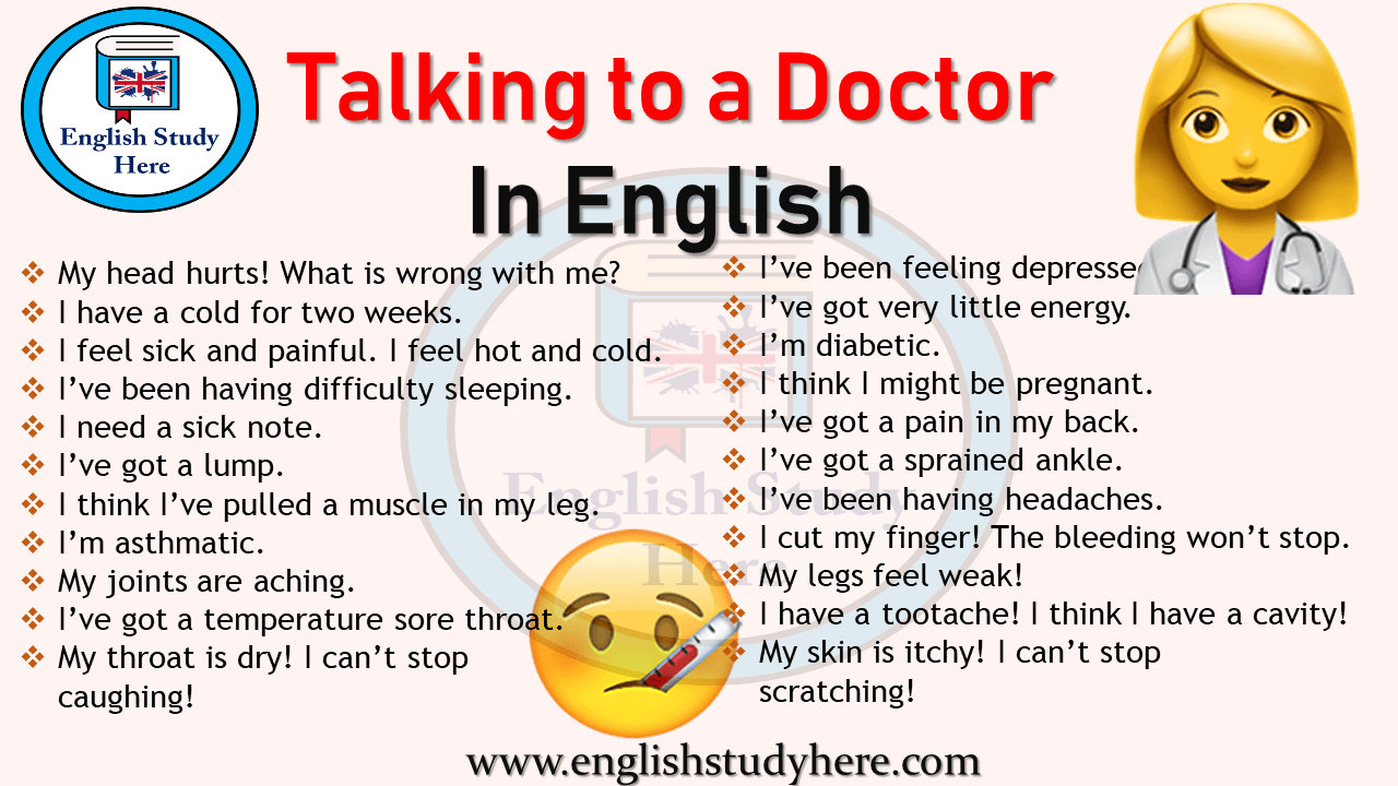 Talking to a Doctor  In English