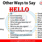 Other Ways to Say HELLO