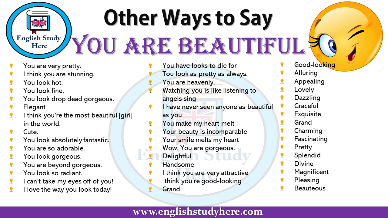 Other Ways to Say You are beautiful