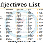 Adjectives List in English