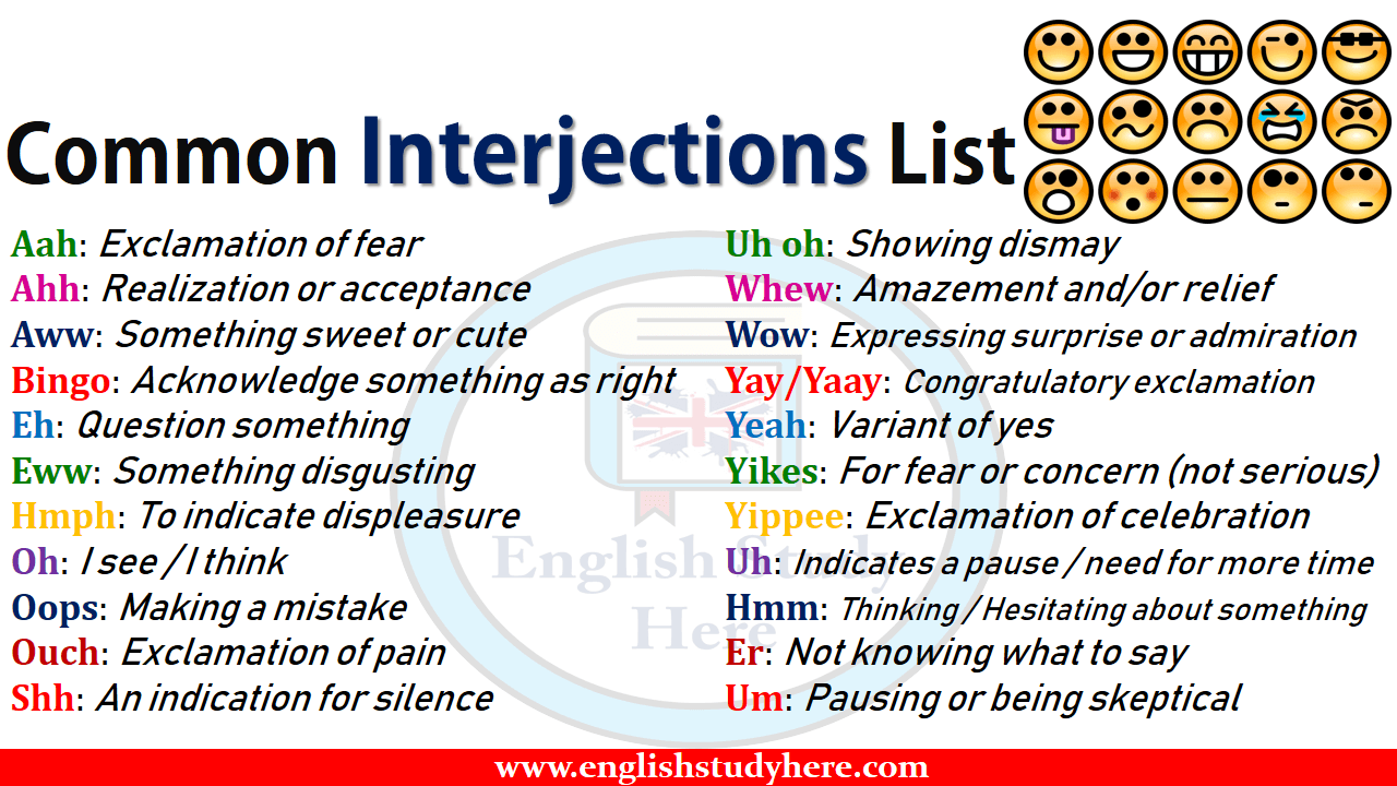 Common Interjections List