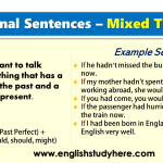 Conditional Sentences – Mixed Type