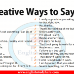 Creative Ways to Say NO in Speaking