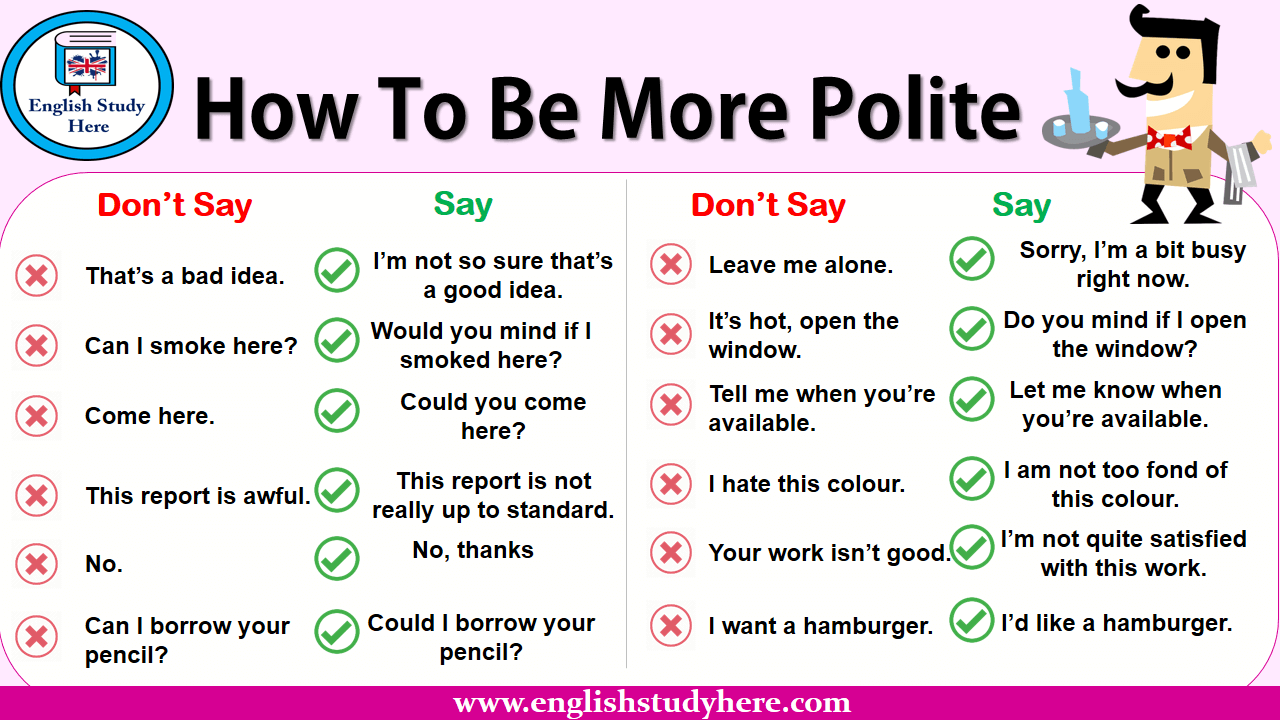 How To Be More Polite In English - English Study Here