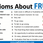 Idioms About FRUITS