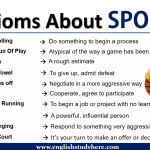 Idioms About SPORTS