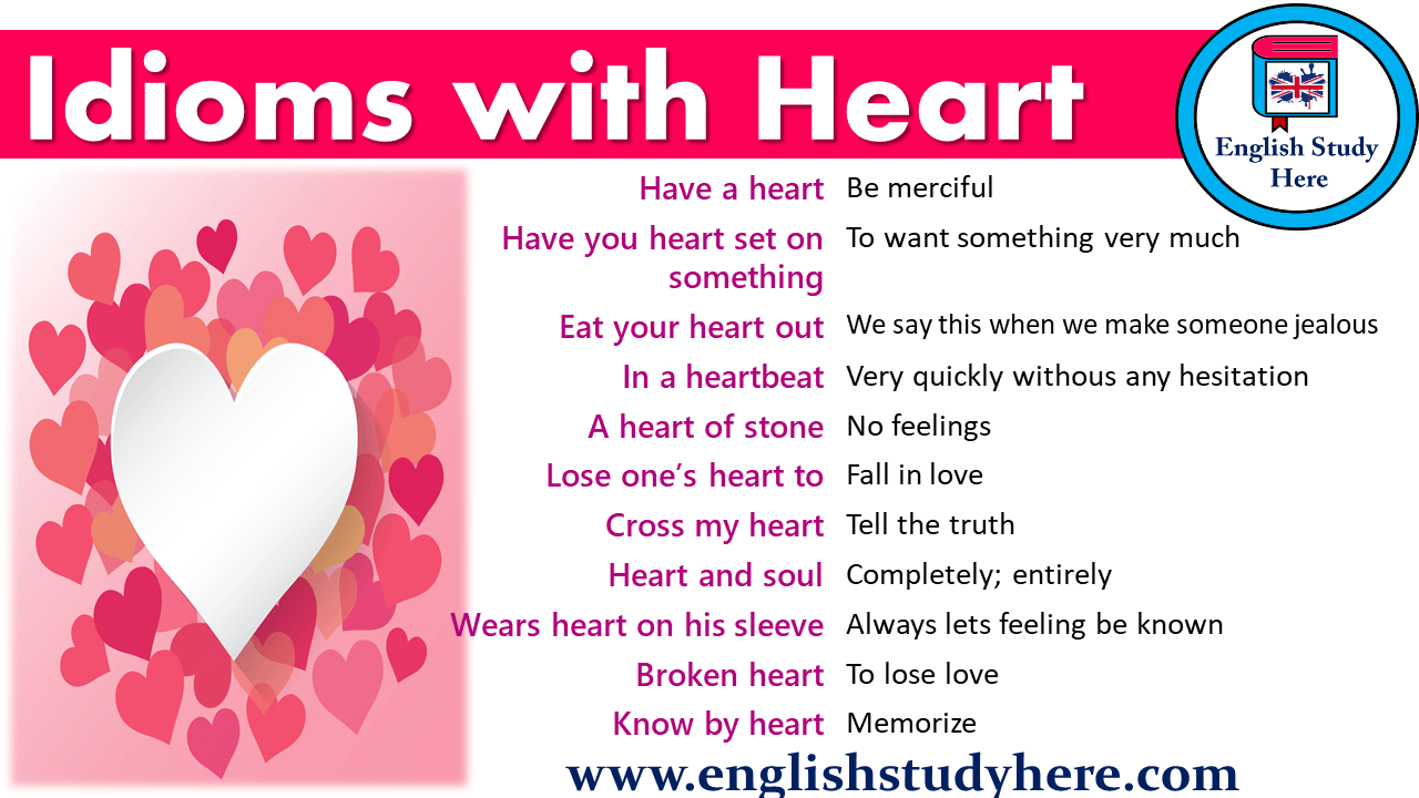 idioms with heart
