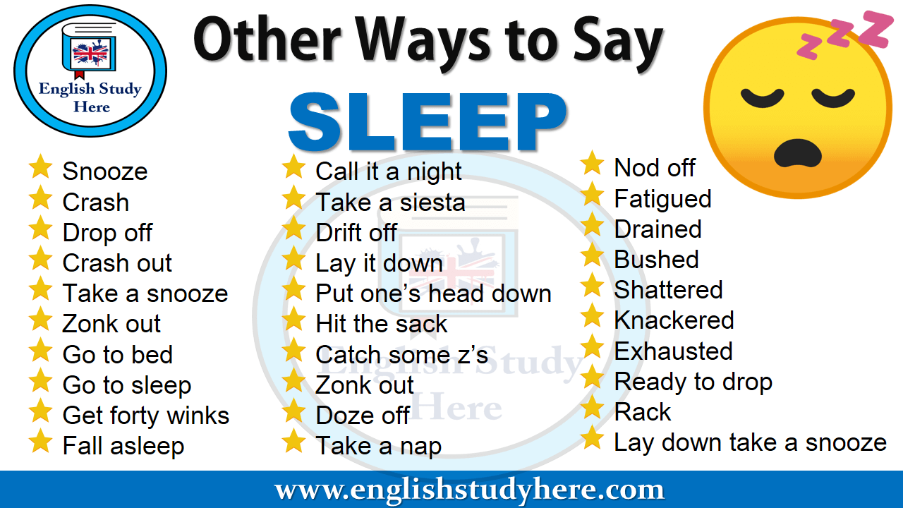 Other Ways to Say SLEEP