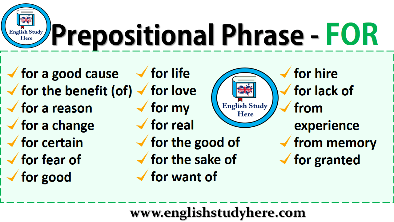 Prepositional Phrases - FOR