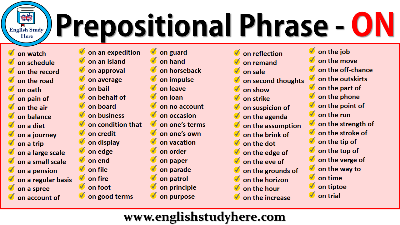 Prepositional Phrases - ON