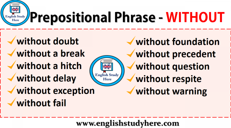 Prepositional Phrases - WITHOUT