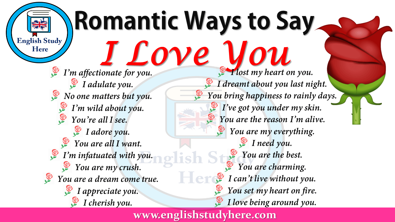 Romantic Ways to Say I Love You