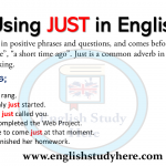 Using JUST in English