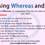 Using Whereas and While